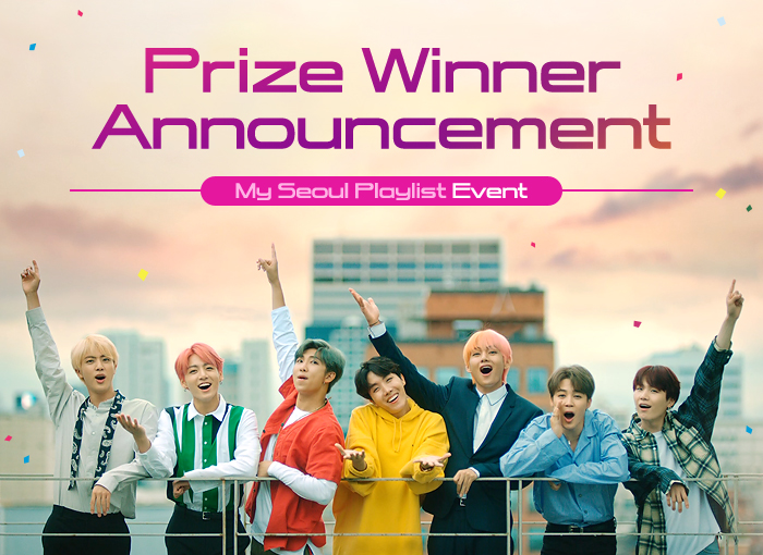 prize winner announcement my seoul playlist event